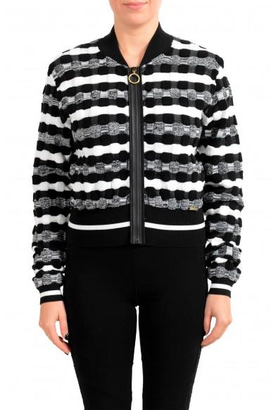 Just Cavalli Women's Multi-Color Zip Up Cardigan Sweater