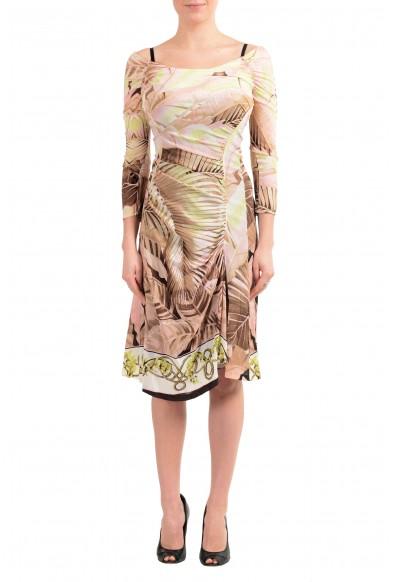 Roberto Cavalli Women's Multi-Color Silk Boatneck Dress