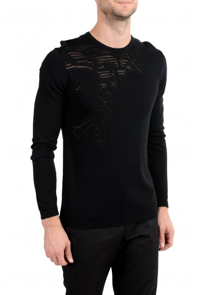 Versace Collection Men's Black Medusa Designed Crewneck Light Sweater: Picture 2