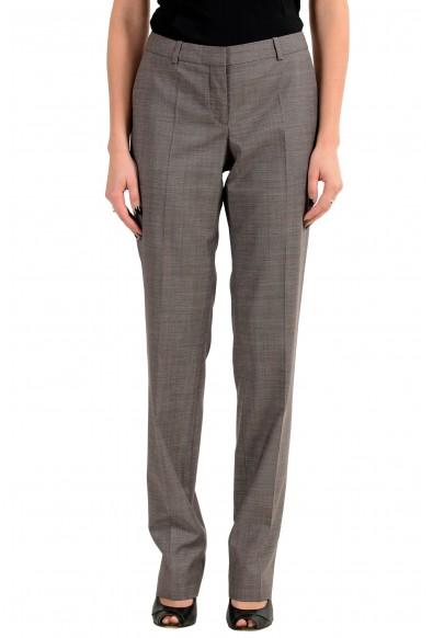 "Hugo Boss ""Titana6"" Women's 100% Wool Gray Casual Pants"