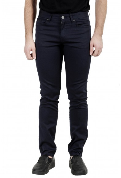 "Hugo Boss Men's ""Delaware3-1-20"" Dark Blue Stretch Jeans"