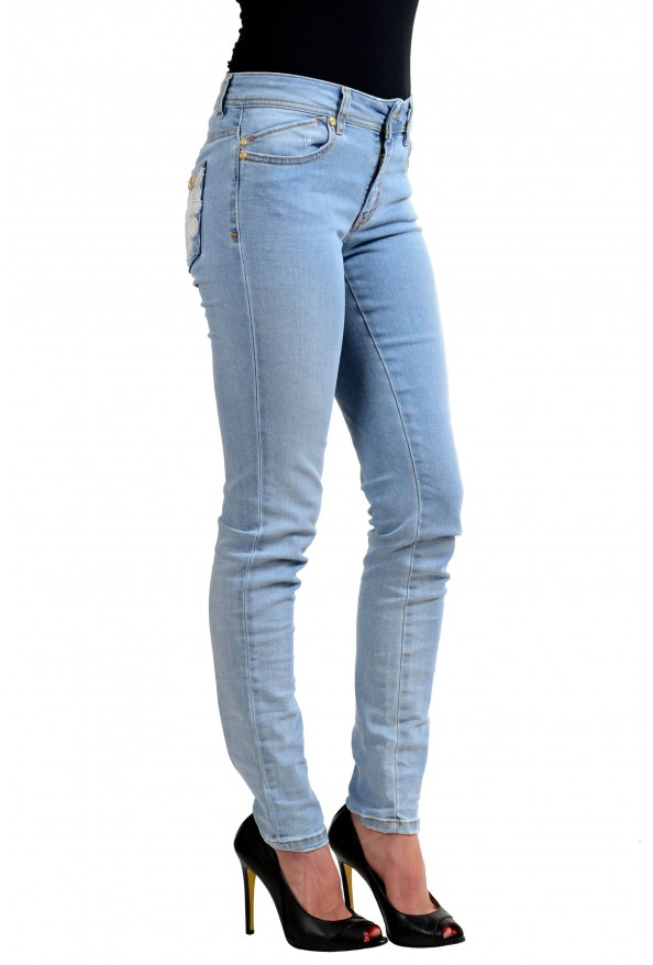 """Just Cavalli """"Luxury"""" Blue Women's Skinny Legs Distressed Jeans  : Picture 2"""
