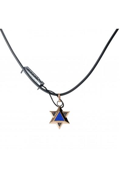BARAKA Men's ST281161RODN000014 Rose Gold Diamonds Star Of David Pendant: Picture 2