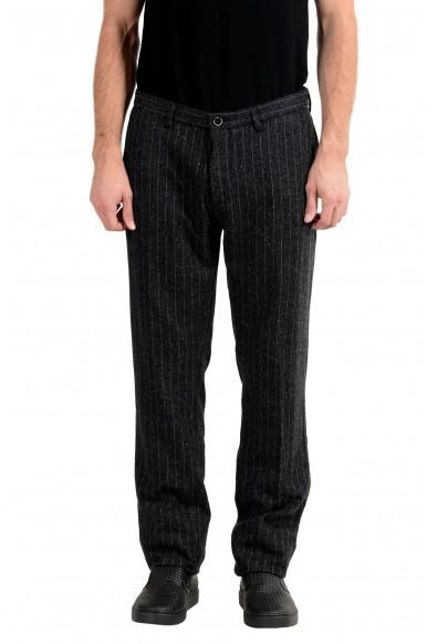 """Hugo Boss """"T-Rice-2-W"""" Men's Wool Silk Striped Casual Pants"""