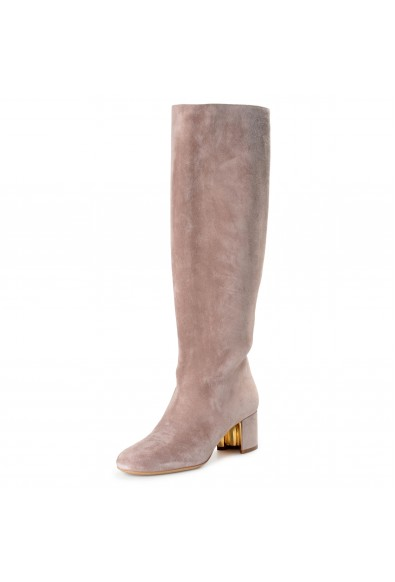 """Salvatore Ferragamo Women's """"Vetto"""" Suede Leather Heeled Boots Shoes"""