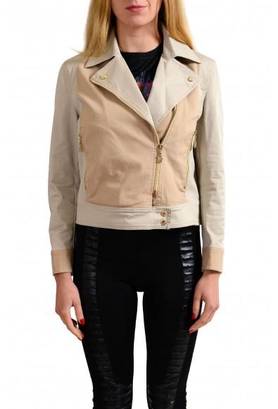 Versace Jeans Beige Women's Full Zip Basic Jacket: Picture 2