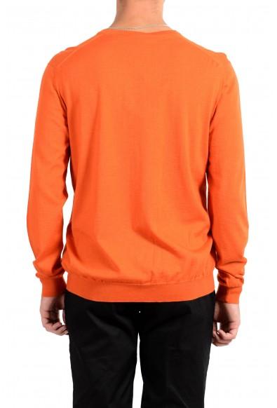 Kiton Napoli Men's Orange V-Neck Silk Cashmere Pullover Sweater : Picture 2