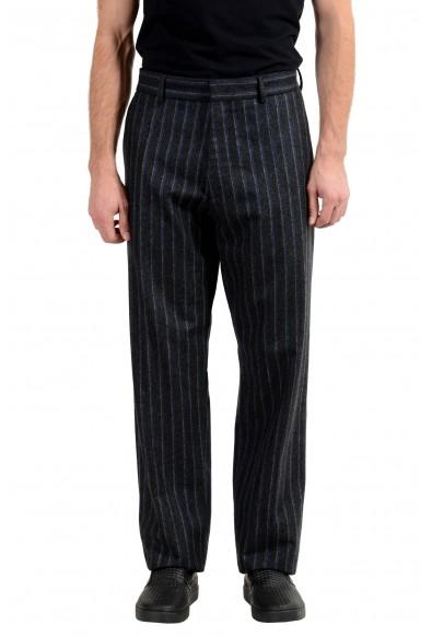"Hugo Boss ""Parko"" Men's 100% Wool Striped Casual Pants"