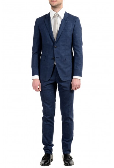 """Hugo Boss """"T-Royston/Wain1"""" Men's Wool Stretch Extra Slim Blue Two Button Suit"""