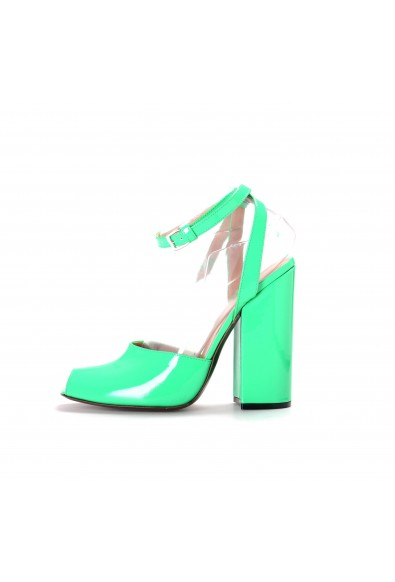 Marni Women's Green Patent Leather High Heel Ankle Strap Pumps Shoes : Picture 2