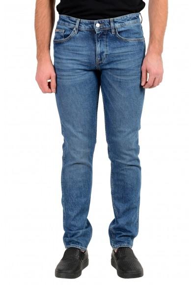 """Hugo Boss Men's """"Delaware3"""" Slim Fit Blue Wash Stretch Jeans"""