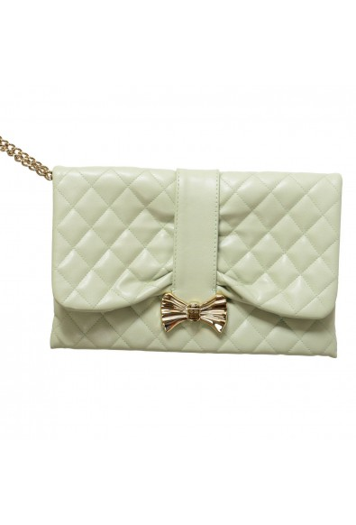 Red Valentino Women's Mint Green 100% Leather Wristlet Bag Clutch: Picture 2
