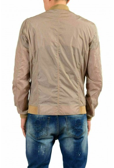 Malo Men's Beige Full Zip Bomber Windbreaker Jacket: Picture 2