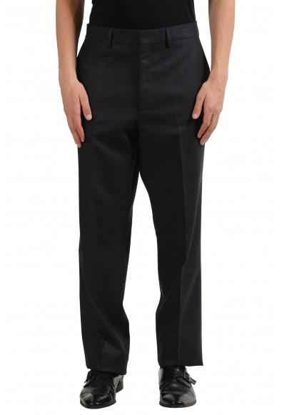 Versace Men's 100% Wool Gray Dress Pants