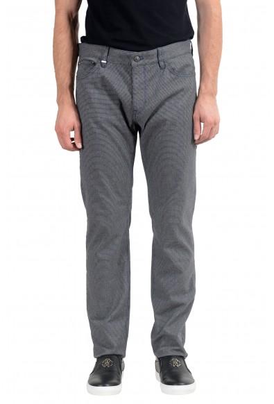 "Hugo Boss ""Maine3-20"" Men's Gray Stretch Straight Leg Jeans"