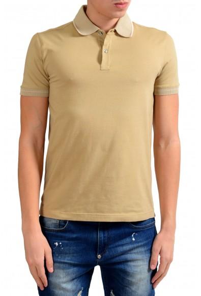 Malo Men's Beige Stretch Short Sleeve Polo Shirt