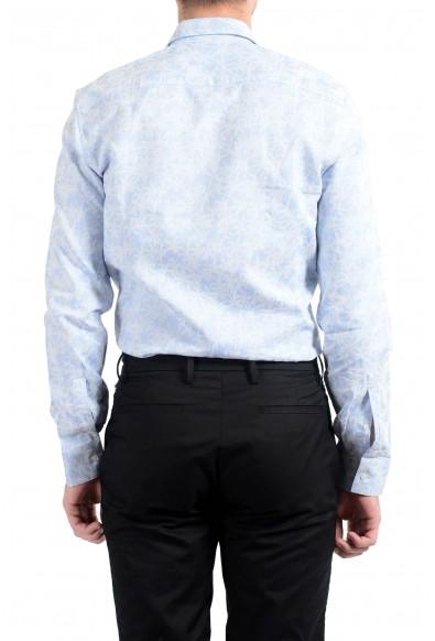 Kenzo Men's Sim Fit Blue Long Sleeve Button Down Dress Shirt: Picture 2
