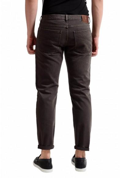 Brunello Cucinelli Men's Dark Brown Slim Fit Jeans: Picture 2