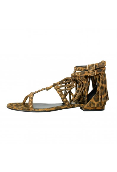 Saint Laurent Women's Suede Leather Ankle Strap Flat Sandals: Picture 2