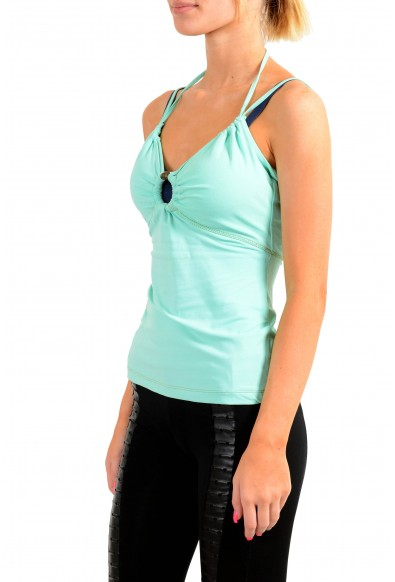 Just Cavalli Women's Light Green Blouse Top: Picture 2