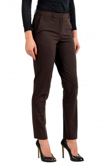 "Hugo Boss Women's ""Tiluna11"" Brown Wool Dress Pants  : Picture 2"