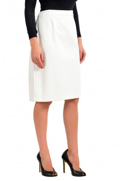 """Hugo Boss Women's """"Vilea"""" White Straight Pencil Skirt: Picture 2"""