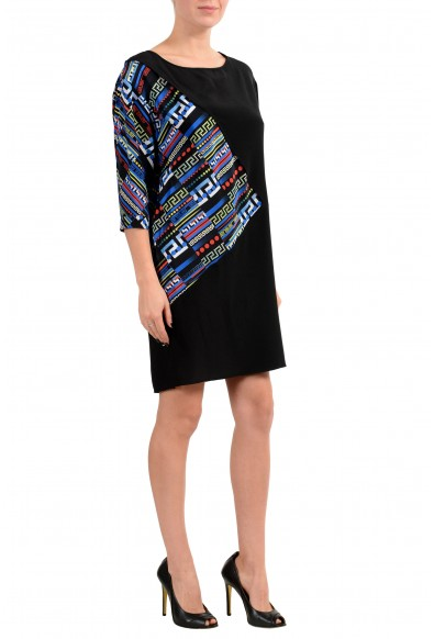Versace Women's 100% Silk Multi-Color 3/4 Sleeve Tunic Dress: Picture 2