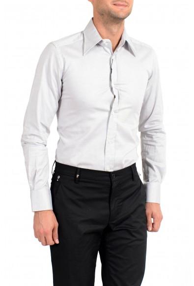 Dolce&Gabbana Men's Gray Stretch Long Sleeve Dress Shirt: Picture 2