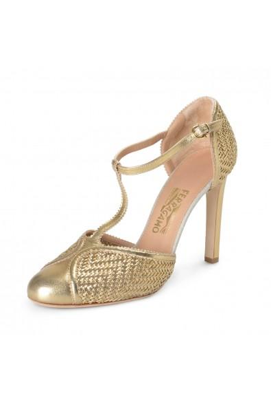 Salvatore Ferragamo Women's Emanuela Leather High Heel Pumps Shoes