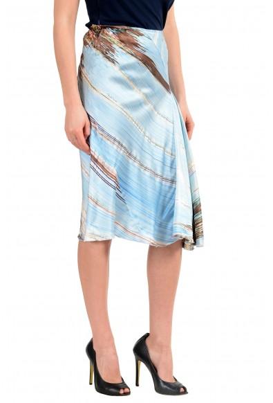 Roberto Cavalli Women's Multi-Color 100% Silk Asymmetrical Skirt: Picture 2