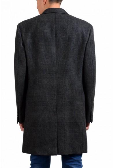 Prada Men's 100% Wool Plaid Three Button Coat: Picture 2