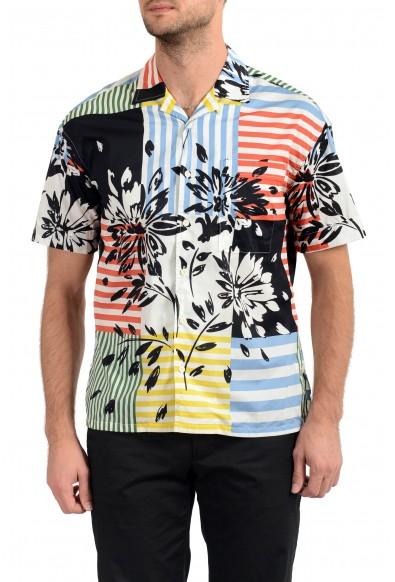 "Burberry Men's ""HARLEY"" Multi-Color Graphic Print Short Sleeve Shirt"