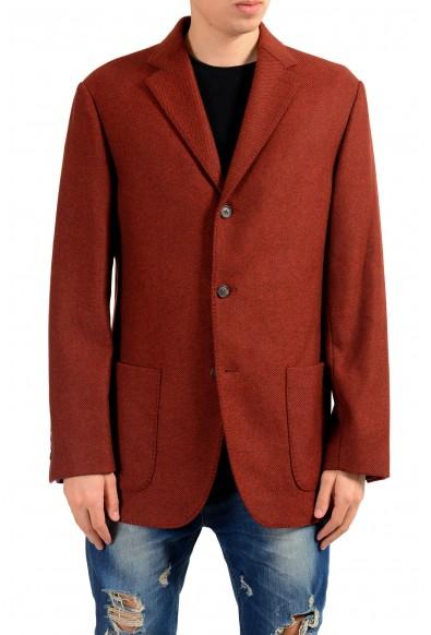 Malo Men's Wool Cashmere Three Button Blazer Sport Coat