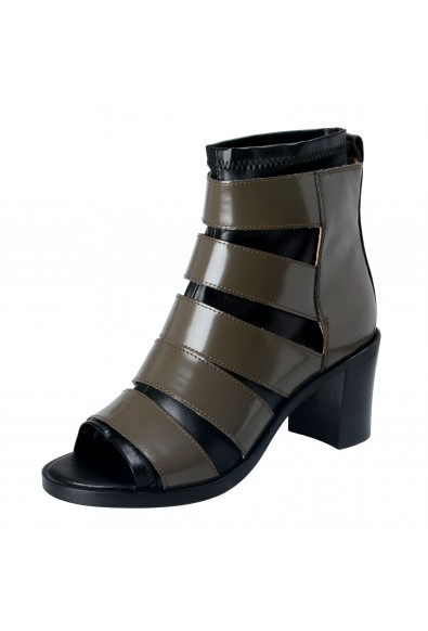 Maison Margiela MM6 Women's Leather High Heel Ankle Boots Shoes
