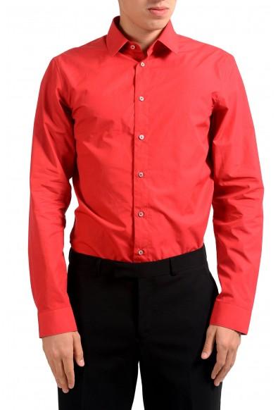 Jil Sander Men's Red Long Sleeve Dress Shirt: Picture 2
