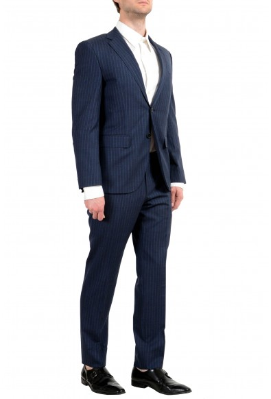 """Hugo Boss """"Johnstons5/Lenon1"""" Men's 100% Wool Blue Striped Two Button Suit: Picture 2"""