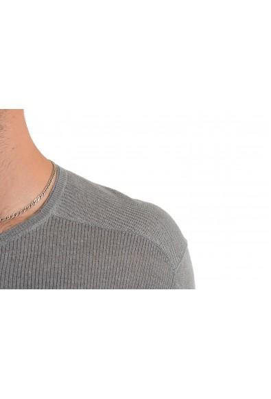 John Varvatos Men's 100% Linen Gray Henley Light Sweater: Picture 2
