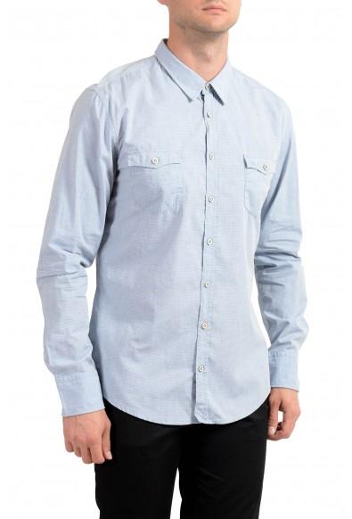 "Hugo Boss Men's ""EdoslimE"" Blue Striped Long Sleeve Casual Shirt: Picture 2"