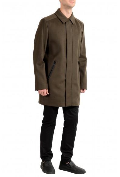 """Hugo Boss """"Marec1842"""" Men's Wool Cashmere Green Full Zip Coat: Picture 2"""