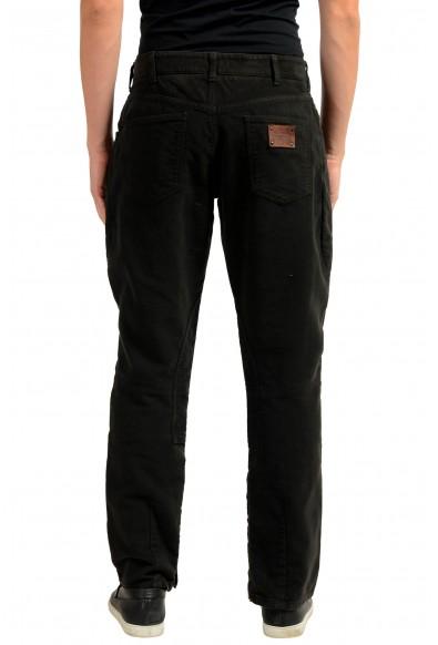 Dolce & Gabbana Men's Brown Zip Up Casual Pants: Picture 2