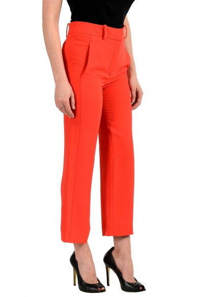 Versace Women's Bright Red 100% Silk Flat Front Pants: Picture 2