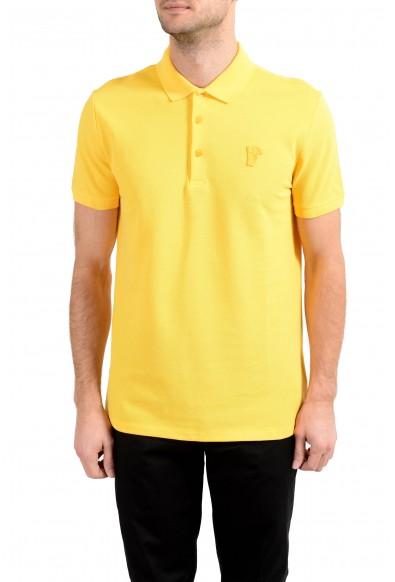 Versace Collection Men's Yellow Short Sleeve Polo Shirt