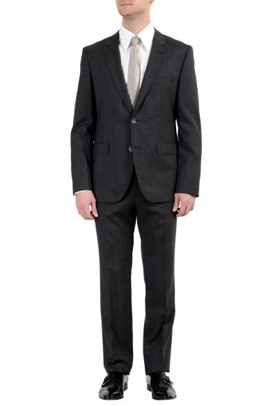 "Hugo Boss ""C-Jeys1/C-Shaft1"" Men's 100% Wool Dark Gray Two Button Suit"