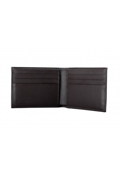 Salvatore Ferragamo Men's Dark Brown Logo Decorated 100% Leather Bifold Wallet: Picture 2