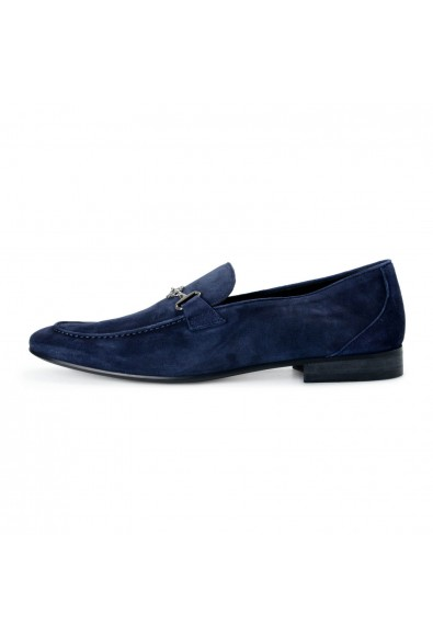 Roberto Cavalli Men's Blue Suede Leather Loafers Slip On Shoes: Picture 2