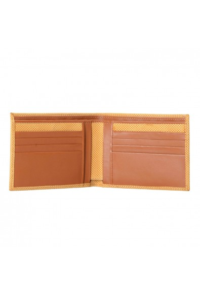 Isaia 100% Leather Yellow Men's Bifold Wallet: Picture 2