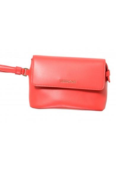 Versace 100% Leather Red Women's Handbag Clutch Bag: Picture 2