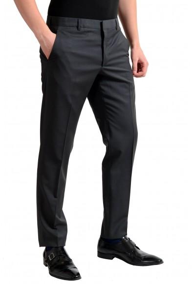 Prada Men's Wool Charcoal Flat Front Dress Pants: Picture 2