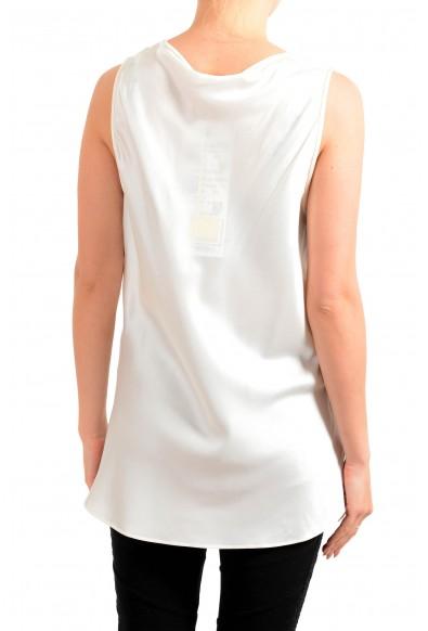 "Hugo Boss Women's ""Inolea"" Ivory Silk Sleeveless Blouse Top: Picture 2"