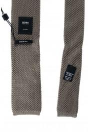 Hugo Boss Men's Sage Green 100% Silk Square End Tie: Picture 5